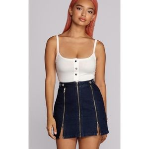 Windsor back to basics Henley bodysuit Size large
